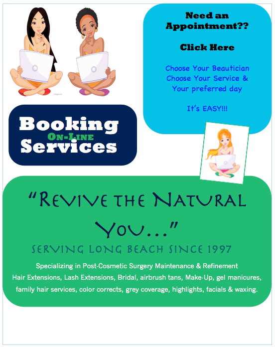 Book On-line ANY TIME!! We Look forward to seeing you very soon!